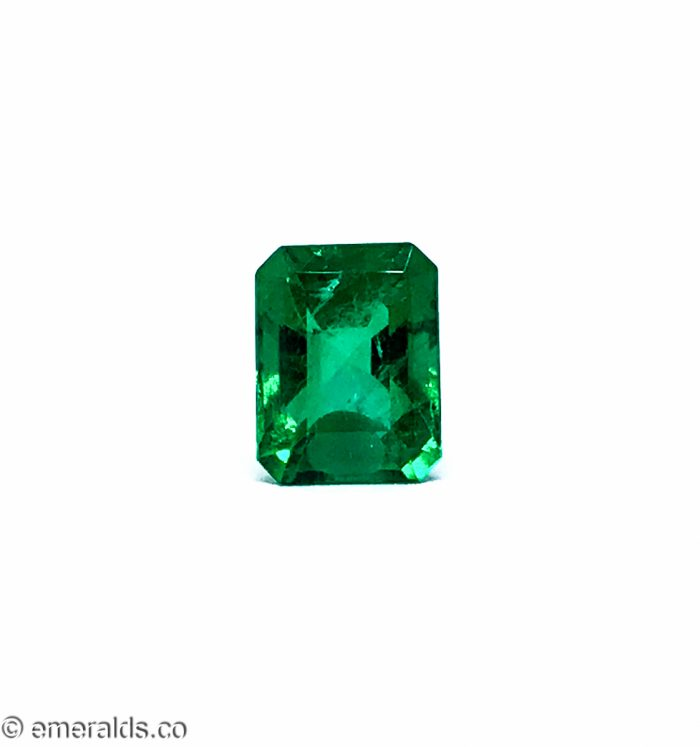 2.28 Fine Colombian Emerald Cut Insignificant Green Grs