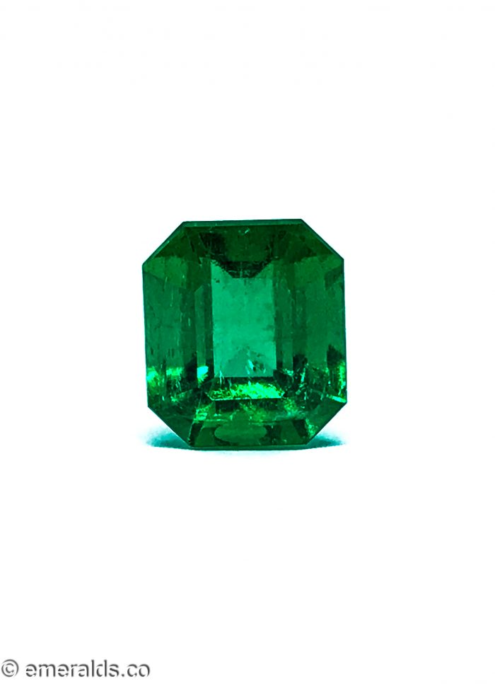 7.10 Fine Colombian Emerald Cut Minor To Moderate Intense To Vivid Green Grs