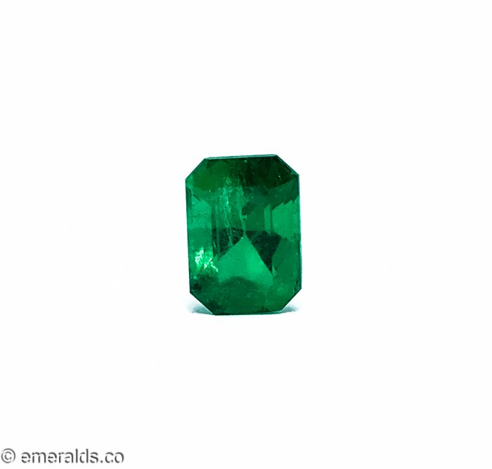 2.58 Fine Colombian Emerald Cut Minor Vivid Green Grs