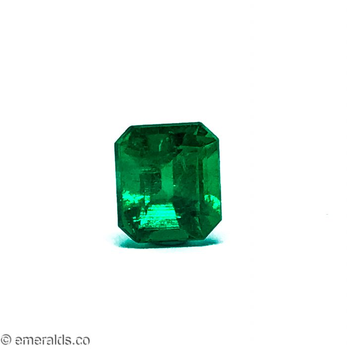 3.00 Fine Colombian Emerald Cut Insiginificant Intense To Vivid Green