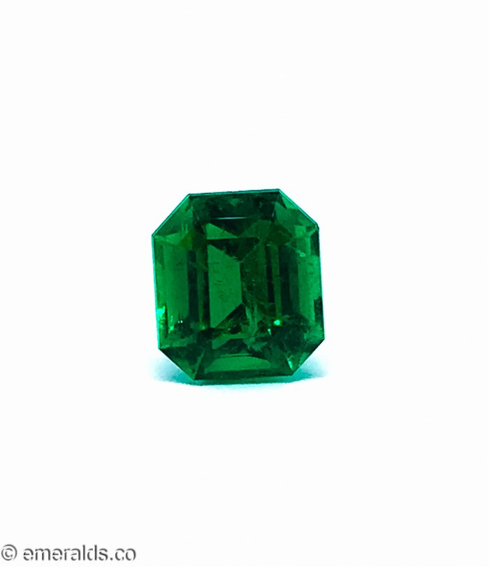 3.45 Fine Colombian Emerald Cut Minor Vivid Green Grs