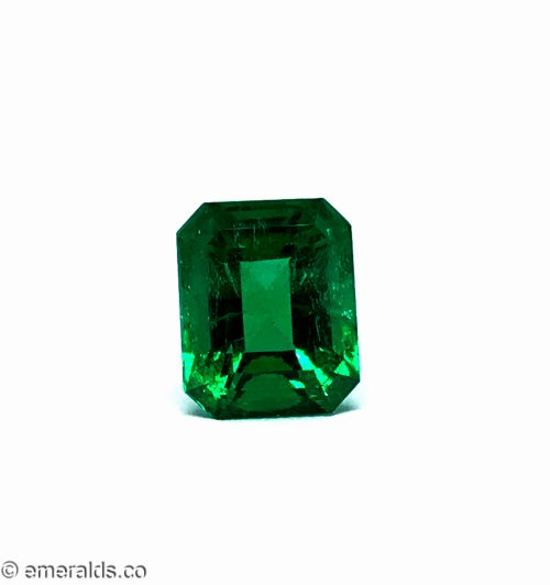4.34 Fine Colombian Emerald Cut Insignificant Vivid Green Grs